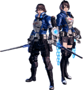 Astral Chain Protagonist and Akira Howard Fullbody