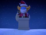 Santa Gets a Little Stuck