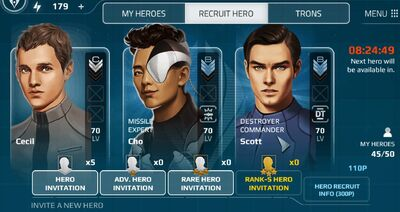 Hero invite system