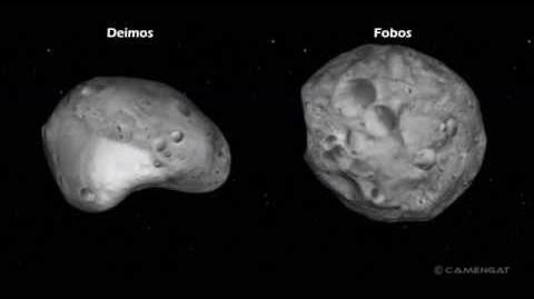 Lunas de Marte Fobos y Deimos visión total 360º