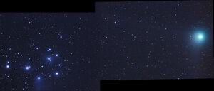 Pleiades-comet-Machholz