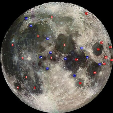 Lunar mare and sinūs