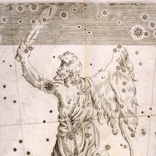 Контури сузір'я Оріона в атласі <a class=