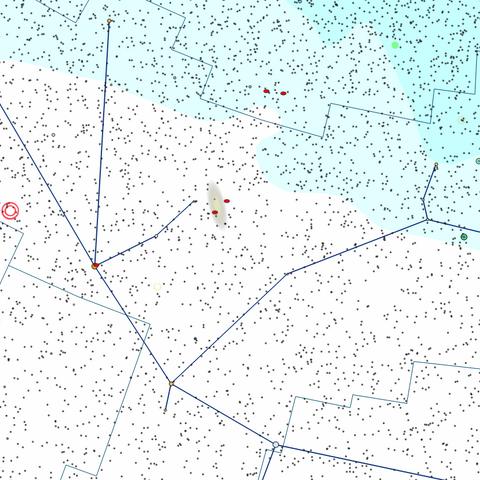 Gwiazdozbiór Andromedy według TheSkyX