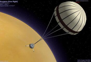 Spacecraft Cassini Huygens descent 1 Jestr