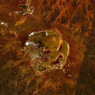 Landsat-зображення озера Акраман, <a class=