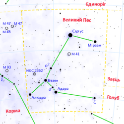 Canis major constellation map ukr