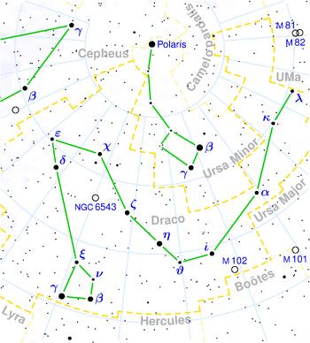 Draco constellation map