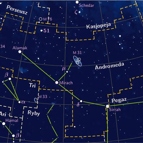 Gwiazdozbiór Andromedy według Wikipedii