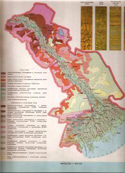 Soil cover of Astrakhan region
