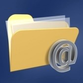 1888936-email-files-folder-of-computer-isolated-on-blue-background