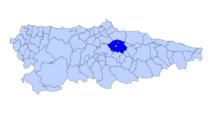 Mapa asturies siero