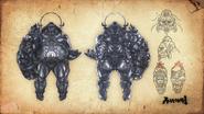 Asura's Wrath Concept Art Gongen Wyzen