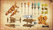 Concept Art-Demigod Weaponry