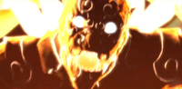 Asura is overcome by rage and transforms into his Berserker form