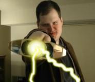 Gold power staff