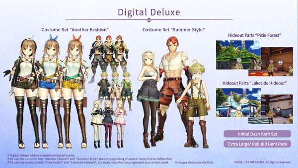 Atelier Ryza Digital Deluxe Edition content