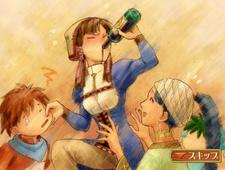 Lillie Drinking