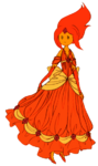 Flame princess dress
