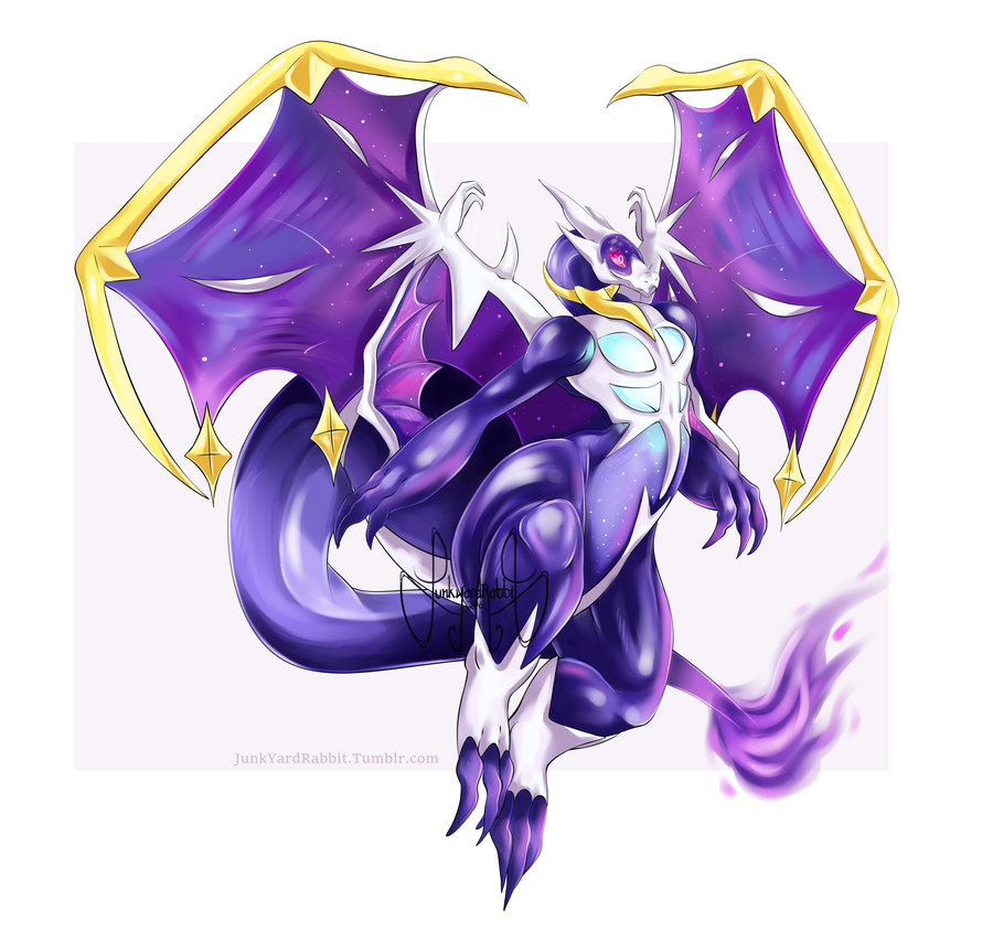 Pokemon Fusion Mega Charizard Y Lunala By