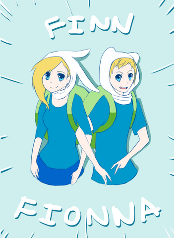 File:Finn and fionna by arcanabreak-d46xg95.png