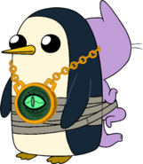 Gunter with Kitten taped to his back