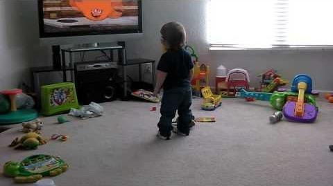 Toddler Dancing To Aqua Teen Hunger Force Theme Song