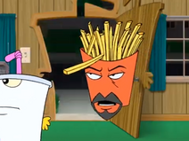 Frylock thought that Master Shake moved