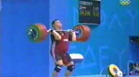 2004 athens weight lifting clean and jerk