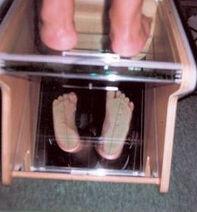 Photo Mixed Pattern Standing on Glass Box