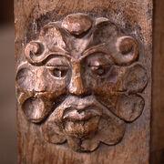 Dore Abbey carving Foliate Head