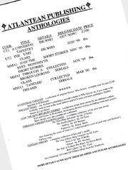 Aborted anthologies advert