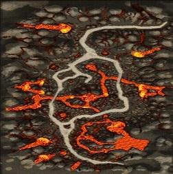 Karte-Vergessenes Vulkantal-Vulkanwüste
