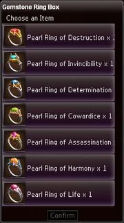 Gemstone Ring Box contents
