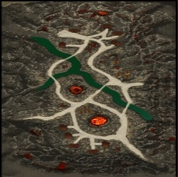 Karte-Vergessenes Vulkantal-Flammenriesendorf