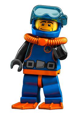 Lego Minifigures Deep Sea Diver