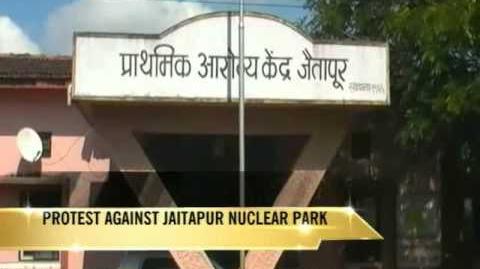 Villagers protest against Jaitapur nuclear power plant