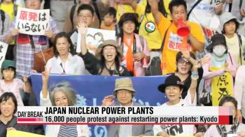 16,000 people protest against Japan restarting power plants Kyodo 도쿄서 원전재가동 반