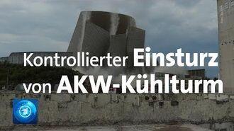 AKW Mülheim-Kärlich Kühlturm kontrolliert zum Einsturz gebracht-0