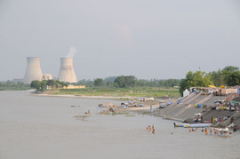 Ganges River near Narora Nuclear Power Plant UP India