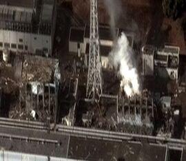 Fukushima I reactor units 3 and 4 by Digital Globe
