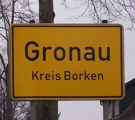 Gronau Ortseingangsschild