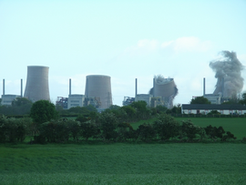 Chapelcross nuclear power station demolition 2 - geograph.org.uk - 438745