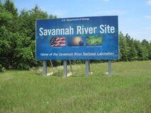 Savannah River Site sign