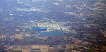 Midland, Michigan with Dow Chemical plant and headquarters
