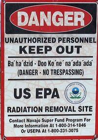 Church Rock uranium mill sign