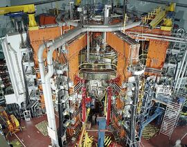 The JET magnetic fusion experiment in 1991