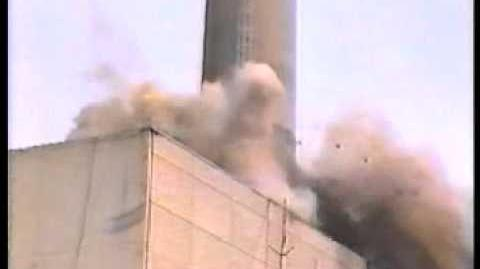 Kaminsprengung Kernkraftwerk Niederaichbach