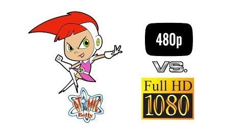Atomic Betty S1 Episode - Toxic Talent - Aspect Ratio Comparison - 4 3 vs. 16 9 1 HD