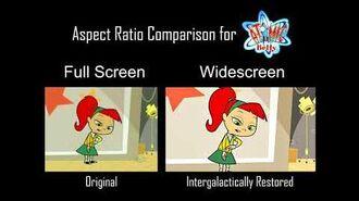 Atomic Betty S1 Episode - Toxic Talent - Aspect Ratio Clip Comparison - 4 3 vs. 16 9 2 HD